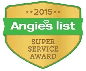 Angie's List Plumbing Super Service Award to Black Mountain Plumbing in San Diego CA