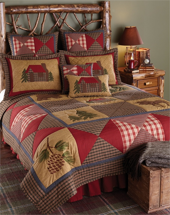 Cabin Quilt Quilted Bedding