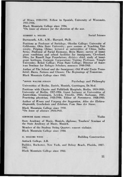 #11 Vol. II, No. 8. - 08.1944 Black Mountain College Bulletin. Courtesy of Western Regional Archives.