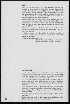 #12 Vol. II, No. 6 - 04.1944 Black Mountain College Bulletin. Courtesy of Western Regional Archives.
