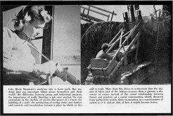 #17 Vol. I, No. 3. - 02.1943 Black Mountain College Bulletin / photographic bulletin that explains the educational goals and structure of Black Mountain College, illustrated with pictures of students and faculty. Released by Emily R. Wood. Courtesy The North Carolina State Archives