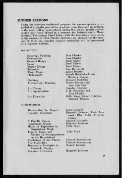 #7 Vol. II, No. 8. - 08.1944 Black Mountain College Bulletin. Courtesy of Western Regional Archives.