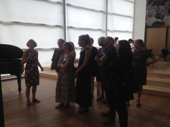 Tour by Gabriele Knapstein, Happening and conversations on the 17-07-2015 about Black Mountain College, at Hamburger Bahnhof – Museum für Gegenwart, Berlin