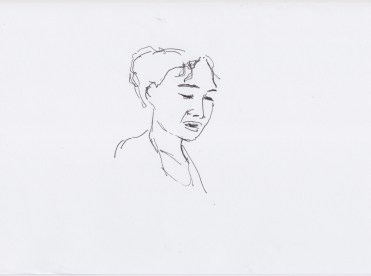 Intro Mariama Diagne drawn by Nikolaus Baumgarten.