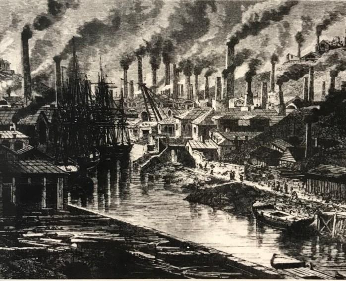 Copperworks in Lower Swansea Valley 1865 Le Tour du Monde