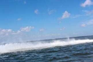 Wave Left in Jet Ski's Wake