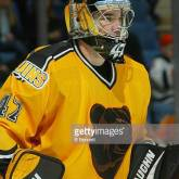 2003 Season: Player John Grahame of the Boston Bruins. (Photo by Bruce Bennett Studios/Getty Images)
