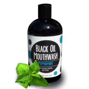 Black Oil Mouthwash 16 oz. Bottle, Sweet Peppermint