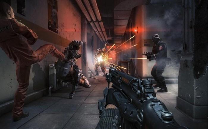 Hallway shootout!