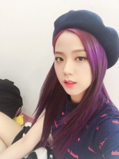 Blackpink Jisoo beret hat electrical safety song