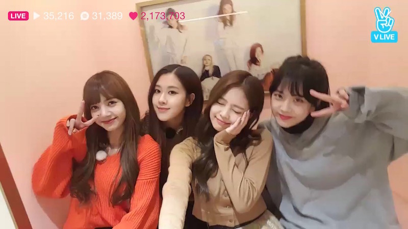 Blackpink Vlive Jisoo Jennie Rose Lisa Blackpink House