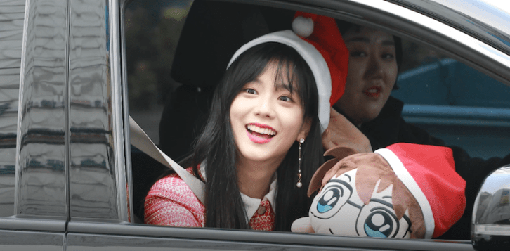 BLACKPINK Jisoo car photos leaving Inkigayo