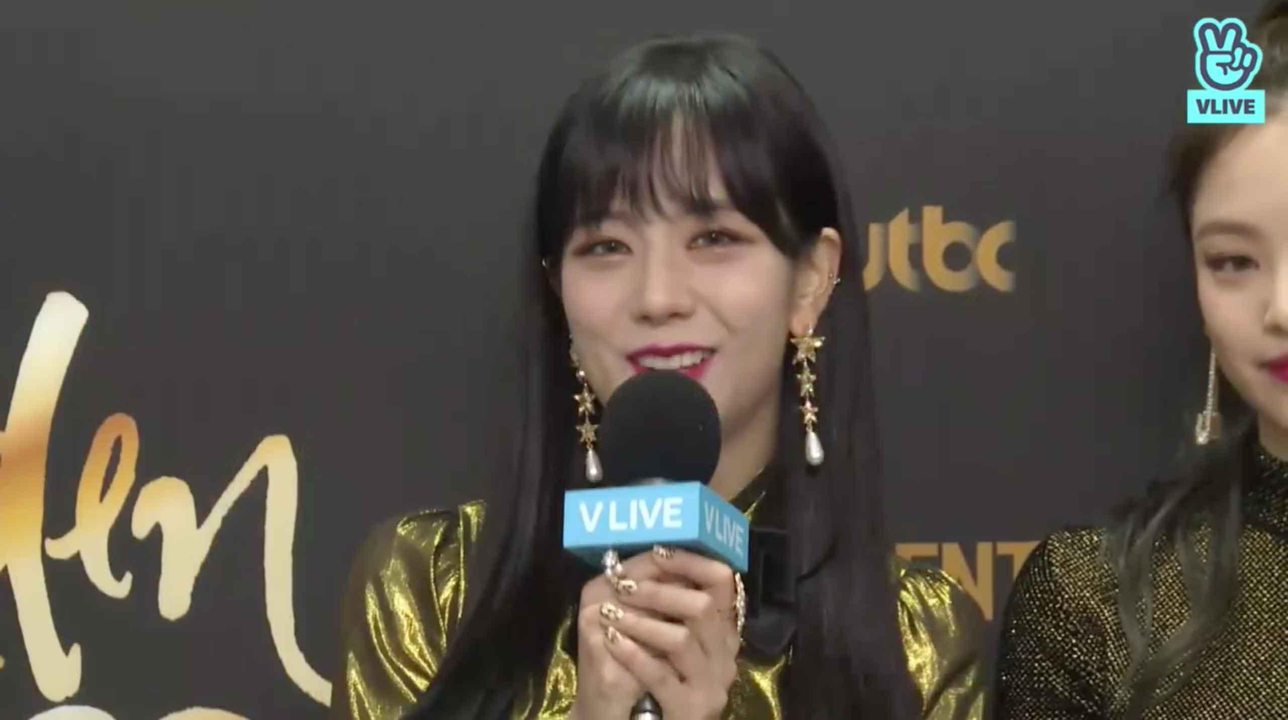 Blackpink Jisoo backstage Golden Disc Awards 2018
