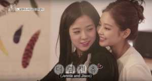 Jennie-Jisoo-backhug-Blackpink-House