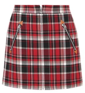 Blackpink Jisoo fashion Plaid mini skirt