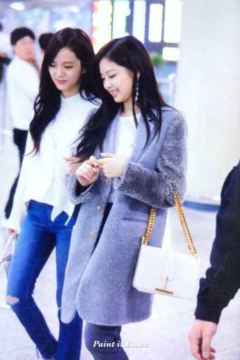 Blackpink Jisoo Jennie Jensoo airport fashion Jeju 25 march 2018