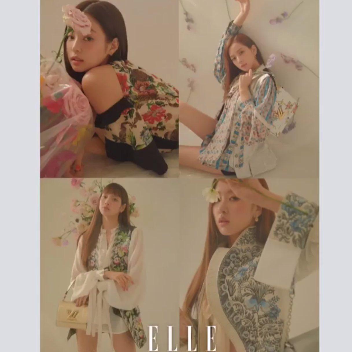 Blackpink Fashion Elle Korea Magazine April 2018