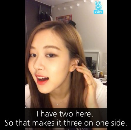 Blackpink Rose ear piercings