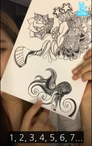 Blackpink-Rose-shows-her-drawing