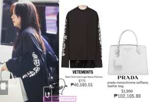 Blackpink Jisoo Airport Fashion 26 March 2018