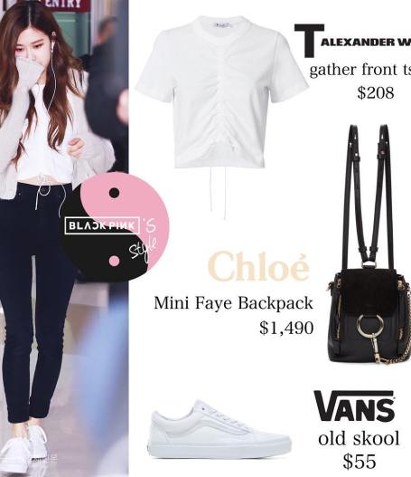 Blackpink Rose Airport Fashion 22 April 2018