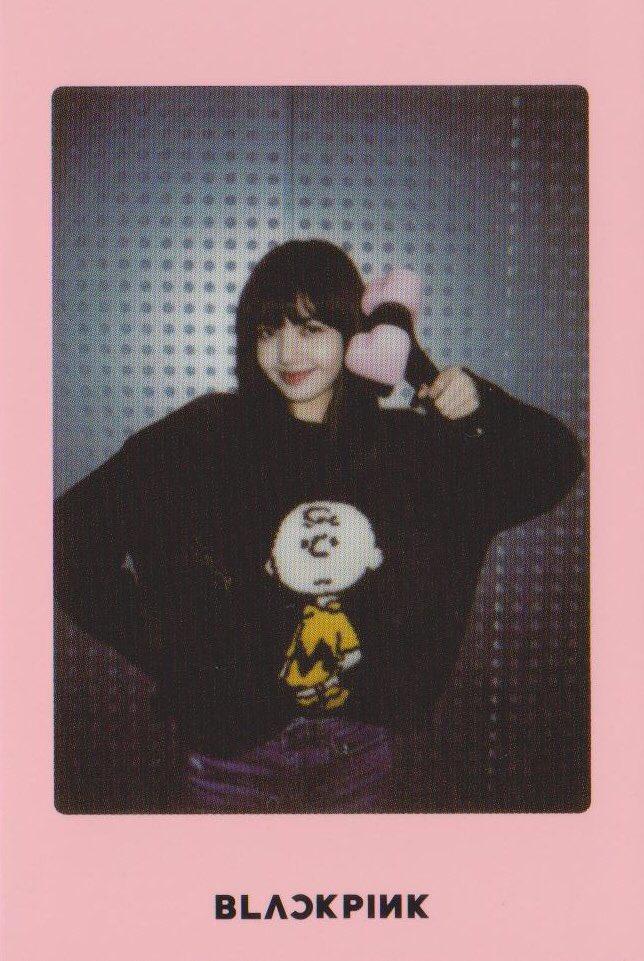 Blackpink Lisa Light Stick Photo Cards pink version