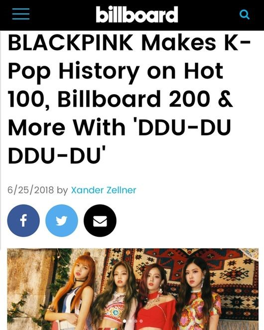 BLACKPINK BILLBOARD CHART