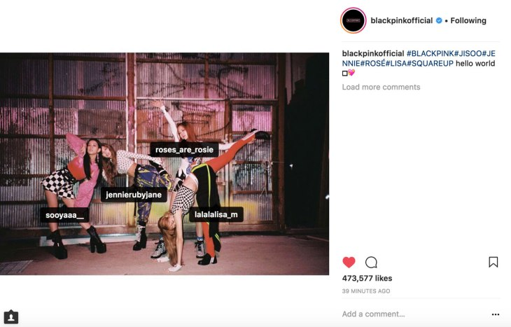 Blackpink-Individual-Instagram-account