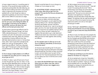 BLACKPINK Jisoo Interview HIGH CUT Magazine Korea English Translation 2