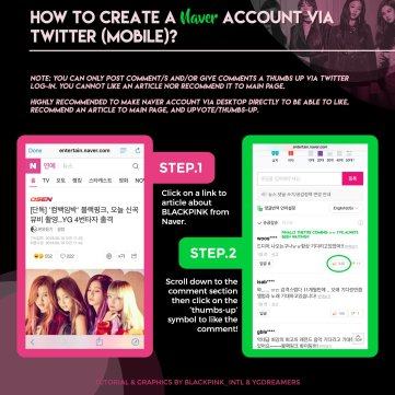 Tutorial to Promote Blackpink on Naver Main Page