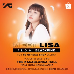 BLACKPINK Lisa meet and greet YG Shop Indonesia 2