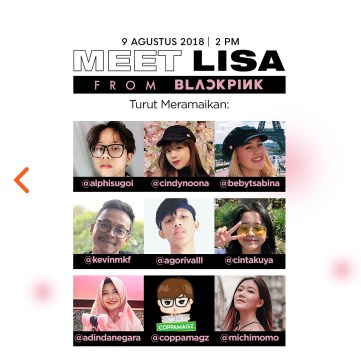 BLACKPINK Lisa meet and greet YG Shop Indonesia 4