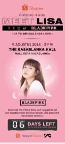 BLACKPINK Lisa meet and greet YG Shop Indonesia