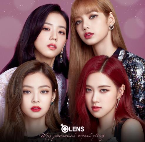 BLACKPINK Photo for OLENS Contact Lens Commercial