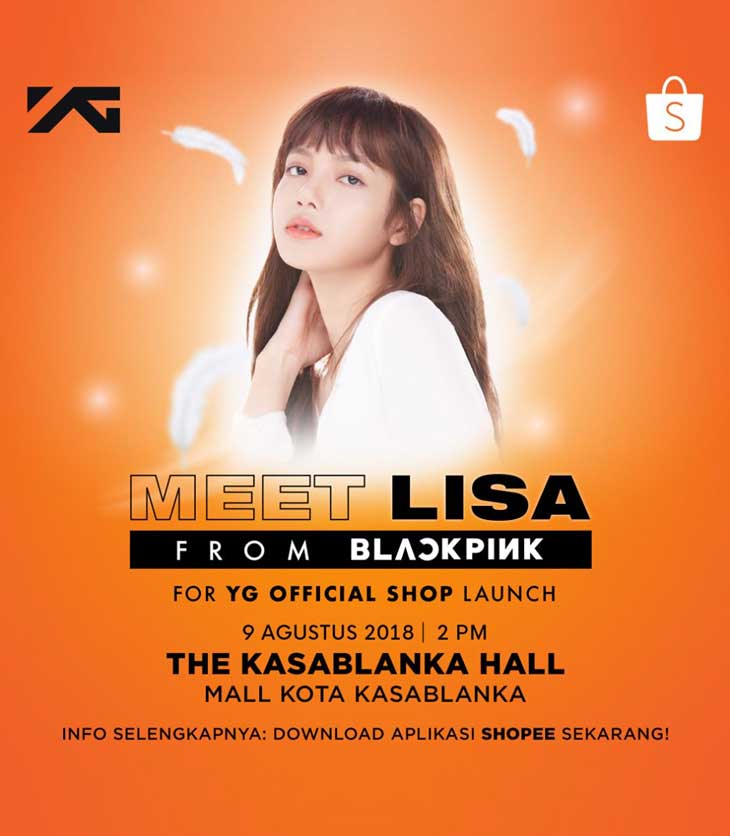 Lisa meet greet yg official goods on shopee sold out in minutes m4hsunfo