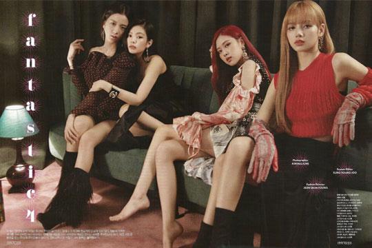 Scan BLACKPINK Cosmopolitan Korea Magazine Photoshoot August 2018 Issue