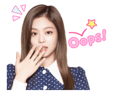 BLACKPINK Jennie LINE Sticker 2018 Photo 7