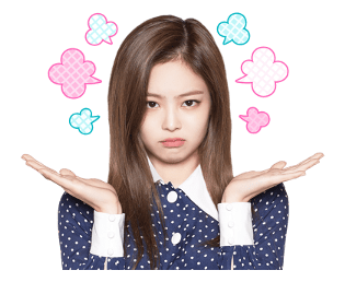 BLACKPINK Jennie LINE Sticker 2018 Photo 9