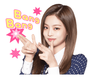 BLACKPINK Jennie LINE Sticker 2018 Photo