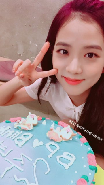 """2nd anniversary cake, Take a picture with me"""