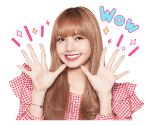 BLACKPINK Lisa LINE Sticker 2018 Photo 6