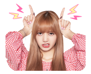BLACKPINK Lisa LINE Sticker 2018 Photo 7