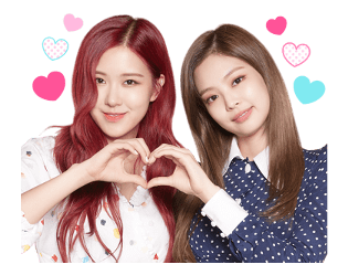 BLACKPINK Rose Jennie Chaennie Official LINE Sticker 2018 photo