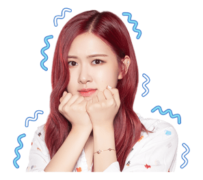 BLACKPINK Rose LINE Sticker 2018 Photo 7