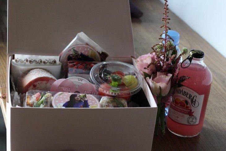 BLACKPINK Rose comeback support rose fan union lunchbox flower candies 15