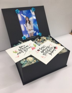 BLACKPINK Rose comeback support rose fan union lunchbox flower candies 3