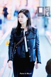 104-BLACKPINK Jennie Airport Photos Incheon to Paris Fashion Week