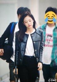 12-BLACKPINK Jennie Airport Photos Incheon to Paris Fashion Week