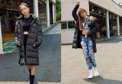 BLACKPINK Jisoo Lisa Adidas Long Padded Coats