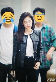 13-BLACKPINK Jennie Airport Photos Incheon to Paris Fashion Week